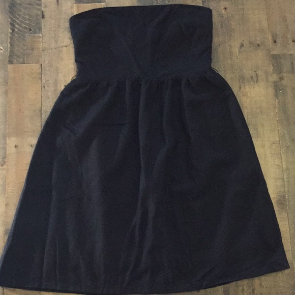 Toska Vintage strapless black dress